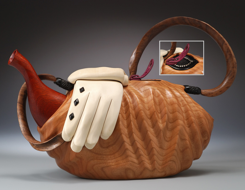 Teapot Sculptures Carved In Wood Teapot Purses And Nature