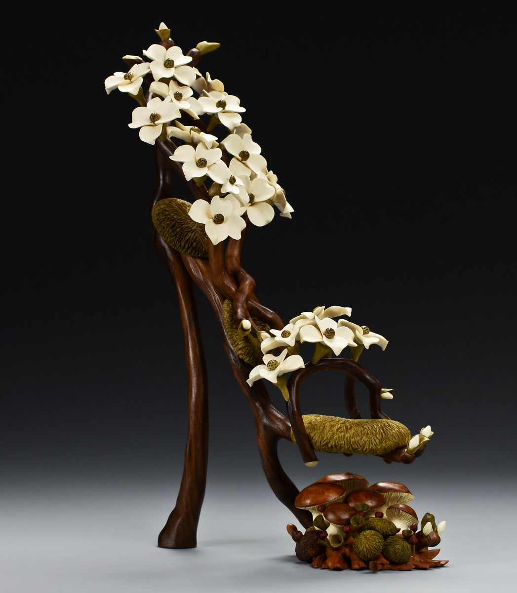 Shoes Carved In Wood High Heel Art Shoes Wood Carvings